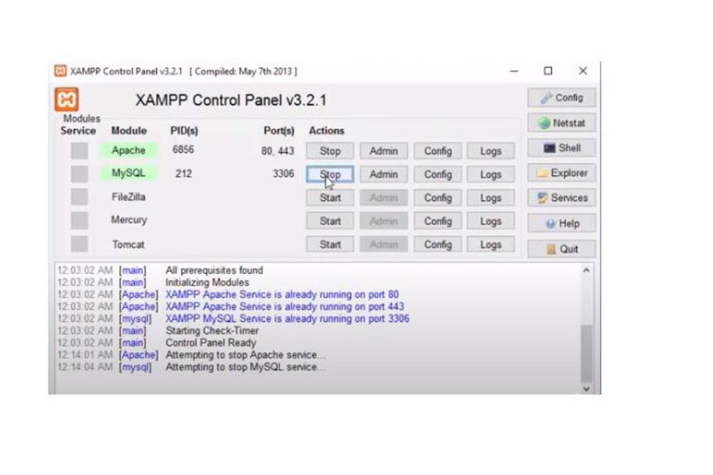 Restart-XAMPP